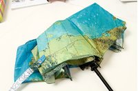 artistic sun - English World Map auto foldable umbrella originality Artistic flower cute UV protection Personality Sun umbrella quality