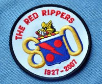 anniversary cross stitch - VF VFA anniversary of the Red Rippers red boar squadron Established commemorative badge