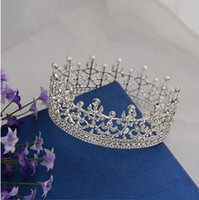 crowns and tiaras - Real Sample Photo Summer New Royal Pricess Style Women Rhinestone Crystal Tiaras and Crowns For Beauty Pageant or Weddings