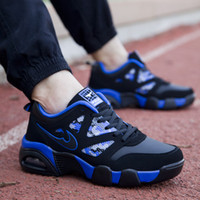 Wholesale Man Basketball Shoes Comfortable Breathable Vamp Sports Shoes For Men Cushioned Air Cushion Sole Lace Up Mens Trainers Retail H737