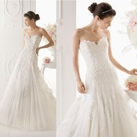 Wholesale Sexy Sweetheart A Line Custom Made Off Shoulder Floor Length Applique Backless Organza Elie Saab Wedding Dress