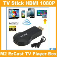 Wholesale High quality M2 EzCast TV Stick HDMI P Miracast DLNA Airplay WiFi Display Receiver Dongle for android tablet PC V762