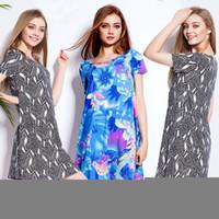 Wholesale 2017 Women s Dresses plus size summer dresses Long T Shirt shirt skirt short sleeved easy Vestidos
