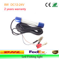 Wholesale led fishing lights DC V V W IP68 High power led fish lights Factory price IP68 underwater LED fish attracting fishing light