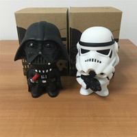 New Hot Star Wars Action Figures Toy 2pcs Black Knight Darth Vader Stormtrooper / set voiture Décoration PVC Figurines bricolage Jouets éducatifs