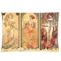 alphonse art - Czech Famous Painting Alphonse Mucha Nouveau Art Medieva Pillowcase x30 Twin sides Custom Zippered Pillow Cover Cases