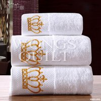 bath towel sales - 2015 New Towel Set Cotton Solid White Different Designs Soft Comfortable Home Textile for sale
