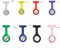 Wholesale 2015 Hot Sale Portable Silicone Nurse Brooch Tunic Fob Quartz Watch Nursing Nurses Pendant Pocket Watch