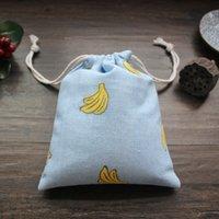 beam manual - CLOTH LANGUAGE Exclusive Custom Banana Series Women Bags Original Manual Linen Bag Pocket Beam Drawstring Bag