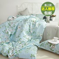 american country quilts - Cotton four piece quilt American Rural Princess bedding cotton m single bed simple Li Suite