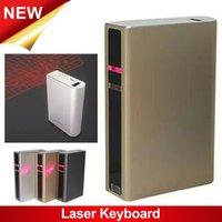 bank connections - New design Virtual Laser Projection Bluetooth Keyboard with mAh Power Bank for smartphone via bluetooth USB connection