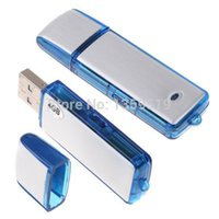 Wholesale 2 in GB USB Disk digital Voice Recorder Dictaphone Pen USB Flash Drive audio recorder in retail package dropshipping