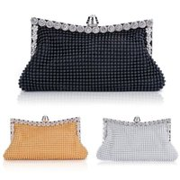 Wholesale New Elegant Lady Party Crystal Evening Bags Mini Evening Bag Clutch Women s Shinning Bag Purse Wallet Golden Silver Black SV18