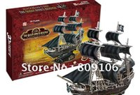 Wholesale Toys Cubic three dimensional Paper Model Caribbean Pirates ship model Black Pearl Queen of Revenge