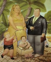 art reproduction paintings - Frank Lloyd et sa famille a Paradise Island Painting by Fernando Botero Art Reproduction High quality Hand painted