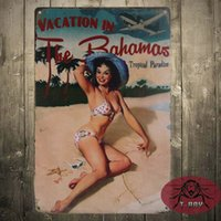 bahamas vacation - Vacation in the Bahamas Vintage Wall Decoration Tin Plate Printed Painting for Wall Decor cm