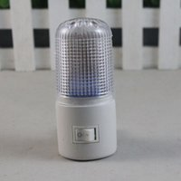 Wholesale Hot Sale W Pled Plastic Small Night Lights Lamp White Color Indoor Lighting HG