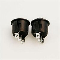 Wholesale High Quality New Mini Round Black Pin SPDT ON OFF Rocker Switch Snap in