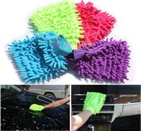 Wholesale 5 Superfine fiber car wash mitt microfiber Cleaning towel household cleaning car clean gloves Double sided