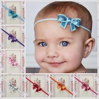 kids hair accessories - 2015 Childrens European Style Fashion Party Headband Best Sale Kids Colors Sequined Bow Princess Headband Kids Hair Accessories