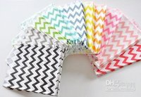 Wholesale STOCK Wedding Chevron Favor Bags Candy Paper Goods Bag kraft paper bags Party Treat Bags More Colours Available