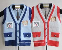 bears sweater vest - Lovely Bear Popular Children s Knitted Vest Sweater Kids Clothes Kids Sweater iso A4