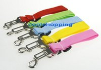 Wholesale Strong Nylon Dog Pet Car Travel Safety Belt Seatbelt Seat Clip Fixed Lead Leash Adjustable Various Colors DHL Freeshipping