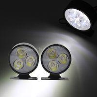 Cheap 2pcs 12v 3 LED Aluminum Worklight Car Truck DRL Daytime Running Work Light Spot Driving Fog Lamp 5.4cm Free Shipping order<$18no track
