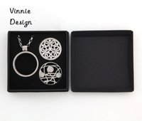 Wholesale cm cm Gift Box for Mi Moneda Coin Set can fit Pedant Chain Necklace and Interchangeable Coins