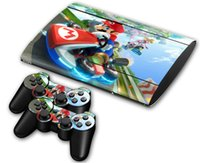 Wholesale Super Mario DECAL SKIN PROTECTIVE STICKER for SONY PS3 SLIM CONSOLE CONTROLLER