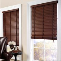 Wholesale MADE TO MEASURE WOODEN BLINDS EASY FIT REAL WOOD BLIND WITH TAPES