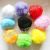 Wholesale 100PCS cm Pompoms Big pom pom Craft material Doll accessories Hat ornament Handmade toys Color Freeshipping