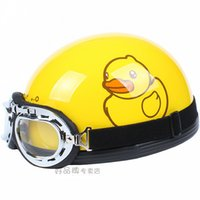 bicycle duck - Motorcycle summer half face helmets men s electric bicycle retro Motorcycles capacete Yellow Rubber Duck B DUCK