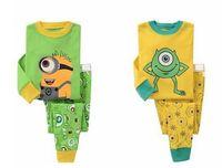 100% cotton pajamas - Despicable ME Minion kids pajamas set cotton children sleepwear colors kids good gift