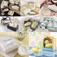 Wholesale Creative Cute Gift Box Mini Scented Bath Soaps Wedding Favors Owl Bird Duck Bridal Party Shower Soaps Guest Gifts