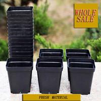 Wholesale 50pcs Planter plane flower pots mini flowerpot garden unbreakable PP plastic black nursery pot
