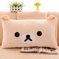 Wholesale fashion super popular three dimensional cartoon comfortable pillow cover high quality short plush pillow cases