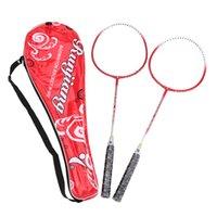 Wholesale Top Quality Lightweight Badminton Training Racquet Ball Sports Equipment Titanium Alloy Frame Badminton Racket Carry Bag