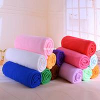 bath towels - 70x cm Bamboo Fiber Quick Dry Towel Bath Shower Fiber Soft Super Absorbent Baby Bath Towel