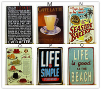 Cheap New Arrive Cake Dessert CAFE BAR Kitchen TIN SIGN Wall Metal Painting Vintage Retro Poster Home Decor Art Wall Decoration
