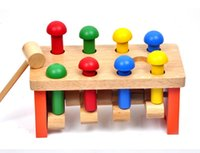 activity station - Deluxe Mushrooms Piling Station Wooden Peg Pounding Bench Kids Children Early Learning Activity