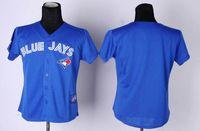 women athletic wear - Womens Blank Blue Jays Baseball Jerseys High Quality Authentic Baseball Uniform Female Outdoor Athletic Wear Brand Embroidery Sportswear