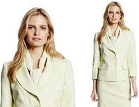 ladies skirt suits - 2015 New arrivals Womens Ladies Slinky OL Business Skirt Suit Long sleeve Work Coat Jacket Skirt Drop shipping