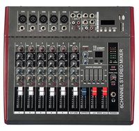 Wholesale MX702D Professional Powered DJ Mixer Channels Mezcladora De DJ Wx2
