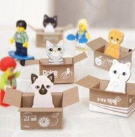 Wholesale Hot Sale Funny Kitty House Sticker Post It Bookmark Mark Tab Memo Sticky Notes Cute Cat Memo pads A5