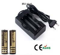 Wholesale hot selling Travel Battery Charger EU Plug x Ultrafire MAH Li ion Rechargeable Battery