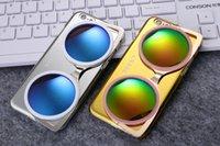 korea fashion - Hot sale Luxury Korea CXXEL Mirror Case D Sunglasses hard PC Plastic Case Cover For iPhone plus Fashion design phone cases
