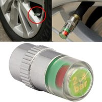 Wholesale iSaddle New Car Tire Pressure Monitor Valve Cap w Sensor Indicator Color Eye Alert