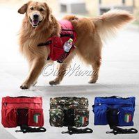 Wholesale 2015 New Large Pet Dog Bag and Big Cool Dogs Outdoor Backpack Food and Toy Bag for Dogs Camouflage Blue Red CWB ZBB