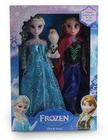 Wholesale DHL freeship Frozen Anna Elsa olaf Barbie dolls children toddler Toys Princess dolls Inch Nice Gift For Kids Girls J083001
